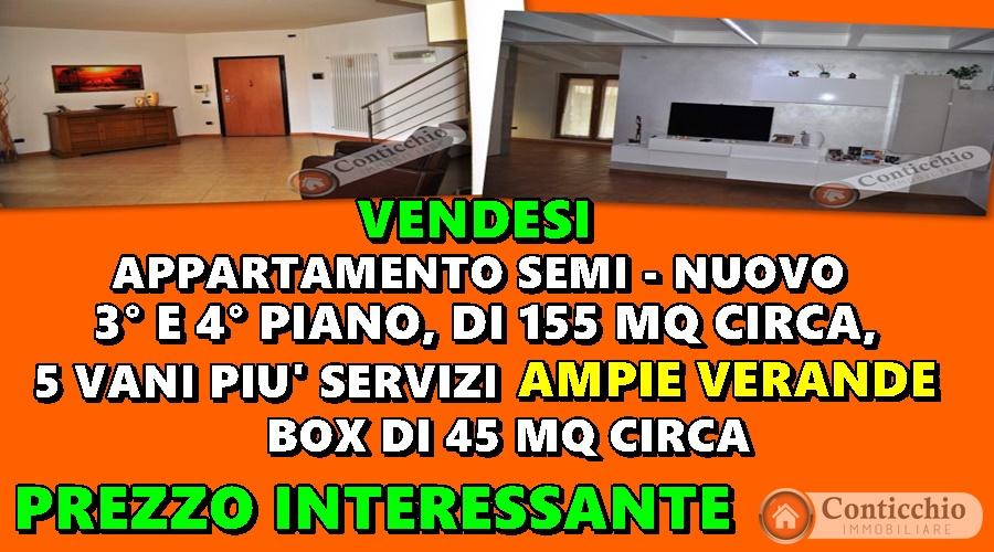 Vendesi Appartamento 3° e 4° piano con Veranda e Box.