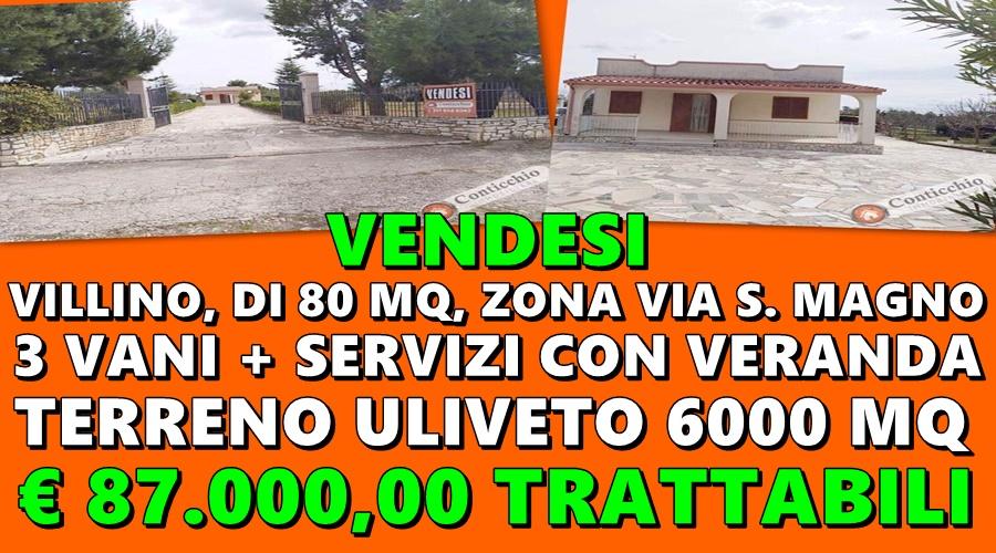 Vendesi Villino zona Via S. Magno.