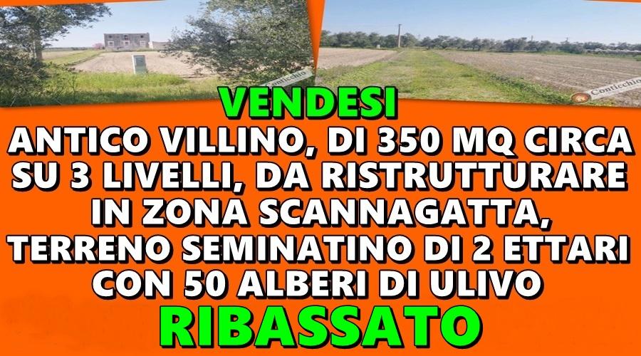Vendesi Antico Villino con Terreno 2 Ettari.