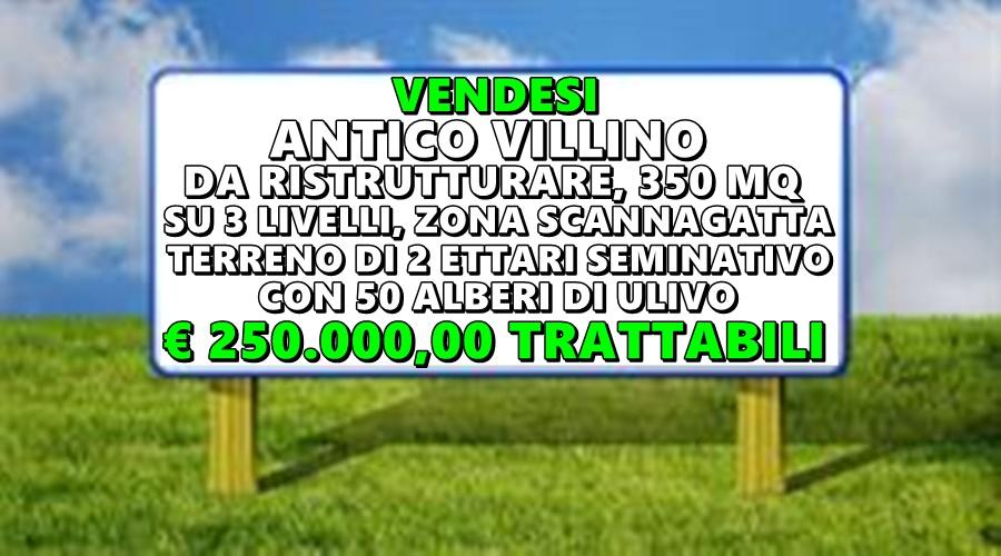 Vendesi Villino con annesso Terreno.
